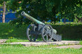Ancient artillery piece of the last century Royalty Free Stock Images