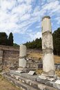 Ancient asclepio at kos island in greece the sanctuary of asklepius asklepieion or Stock Image