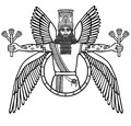 Ancient Assyrian winged deity. Character of Sumerian mythology.