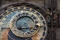 The ancient astronomical Clock in Prague Stock Photos