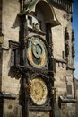 The ancient astronomical clock in Prague Stock Photography