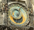 Ancient astronomical clock in Prague (UNESCO) Stock Photography