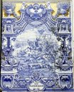 Ancient Azulejo in Lisbon Royalty Free Stock Photography