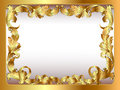 Ancient background framed gold vegetative orname Royalty Free Stock Photo