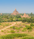 Ancient Bagan pagodas, Myanmar Royalty Free Stock Photo