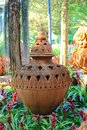 Ancient baked clay pot Royalty Free Stock Photo