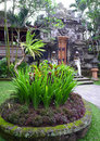 Ancient balinese palace and landscaping Royalty Free Stock Image