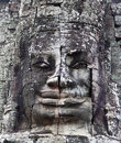 Ancient bas-relief at the Bayon temple Stock Images