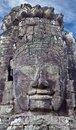 Ancient bas-relief at the Bayon temple Royalty Free Stock Photo