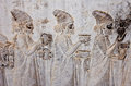 Ancient bas-reliefs of Persepolis Royalty Free Stock Photo