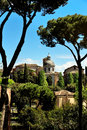 Ancient basilica church santi giovanni e paolo roma italy located on the caelian hill view from roman forum Stock Images