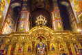 Ancient basilica saint michael monastery cathedral kiev ukraine mosaics golden screen icons s is a functioning greek Stock Photo