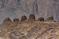 The ancient Beehive tombs at Jabal Misht  Western Royalty Free Stock Photos