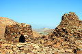 The ancient beehive tombs at jabal misht western oman Stock Images