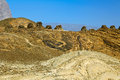 The ancient beehive tombs at jabal misht western oman Royalty Free Stock Photography