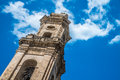 Ancient bell tower beautiful in the south of italy Royalty Free Stock Photography