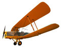 Ancient biplane isolated on white clipping path included Royalty Free Stock Photos