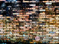 Ancient blick wall erode all surface background burn has Royalty Free Stock Photography