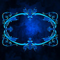 Ancient blue framework Royalty Free Stock Photo