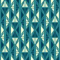 Ancient blue seamless pattern Stock Photos