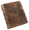 The ancient book in leather reliure Royalty Free Stock Photo