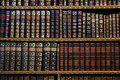 Ancient bookshelves Royalty Free Stock Photos