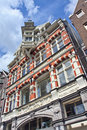 Ancient brick mansion with step gable, Amsterdam, Netherlands Royalty Free Stock Photo