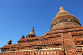 Ancient brick pagoda or temple in Bagan, Myanmar Stock Photography
