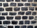 Ancient Brick Shaped Rock Wall Royalty Free Stock Photo
