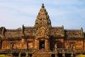 Ancient brick temple a famous thai tourist travel destination of thailand Stock Photography