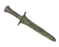 Ancient bronze age dagger isolated. Royalty Free Stock Images