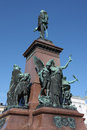 Ancient bronze statue Stock Images
