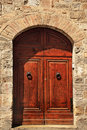 Ancient Brown Stone Doorway San Gimignano Italy Stock Images