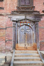 Ancient Buddha's All Seeing Eye Door, Kathmandu,  Stock Photography
