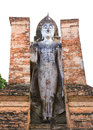 Ancient buddha statue sukhothai historical park the old town of thailand in year ago Royalty Free Stock Photos