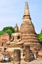 Ancient buddha statue sukhothai historical park in sukhothai thailand Stock Photos