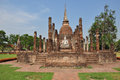 Ancient buddha statue sukhothai historical park in sukhothai thailand Royalty Free Stock Photography