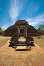 Ancient Buddhist dagoba Pabula Vihara.  Sri Lanka Royalty Free Stock Image