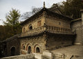 """Ancient buddhist hall an relic ming dynasty in longchang temple jiangsu china called """" no beam hall"""" which uses not a single Stock Image"""