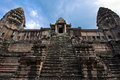 Ancient buddhist khmer temple in angkor wat cambodia Royalty Free Stock Photography