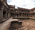 Ancient buddhist khmer temple in angkor wat cambodia Royalty Free Stock Photos