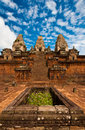 Ancient buddhist khmer temple in angkor wat cambodia Stock Images