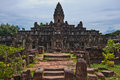 Ancient buddhist khmer temple in angkor wat cambodia bakong prasat Stock Photos