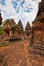 Ancient buddhist khmer temple in angkor wat cambodia banteay srey prasat Stock Photo