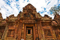 Ancient buddhist khmer temple in angkor wat cambodia banteay srey prasat Stock Photography