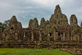 Ancient buddhist khmer temple in angkor wat cambodia bayon prasat Stock Photo