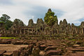Ancient buddhist khmer temple in angkor wat cambodia bayon prasat Royalty Free Stock Photos