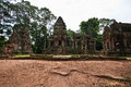 Ancient buddhist khmer temple in angkor wat cambodia thommanon prasat Royalty Free Stock Photos
