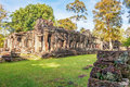 Ancient buddhist khmer temple in Angkor Wat complex Stock Photo
