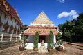 Ancient buddhist shrine against blue sky Royalty Free Stock Photography